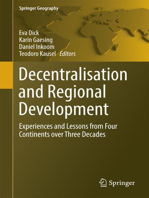 cover image of Decentralisation and Regional Development