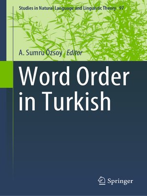 cover image of Word Order in Turkish