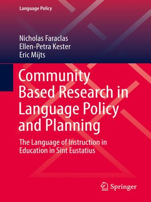 cover image of Community Based Research in Language Policy and Planning