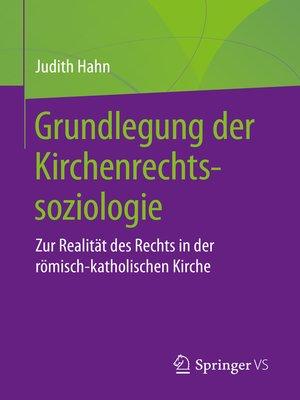 cover image of Grundlegung der Kirchenrechtssoziologie