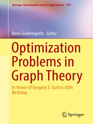 cover image of Optimization Problems in Graph Theory