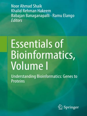cover image of Essentials of Bioinformatics, Volume I