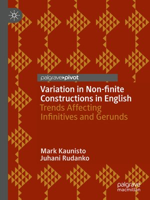 cover image of Variation in Non-finite Constructions in English