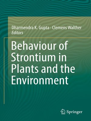 cover image of Behaviour of Strontium in Plants and the Environment