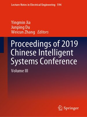 cover image of Proceedings of 2019 Chinese Intelligent Systems Conference