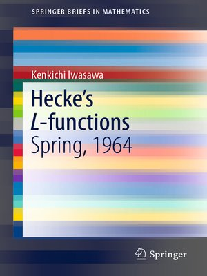 cover image of Hecke's L-functions