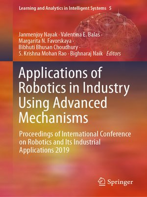 cover image of Applications of Robotics in Industry Using Advanced Mechanisms