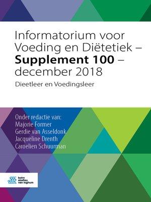 cover image of Informatorium voor Voeding en Diëtetiek--Supplement 100--december 2018