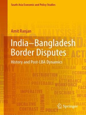 cover image of India–Bangladesh Border Disputes