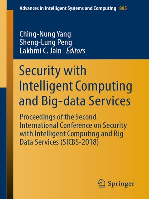 cover image of Security with Intelligent Computing and Big-data Services
