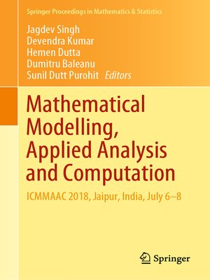 cover image of Mathematical Modelling, Applied Analysis and Computation