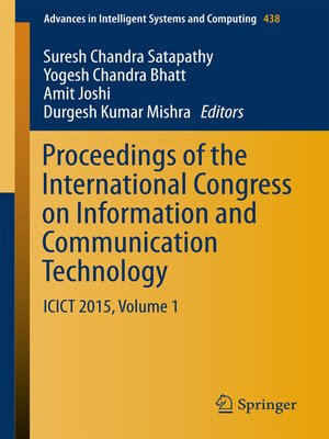 cover image of Proceedings of the International Congress on Information and Communication Technology