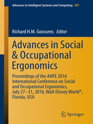 cover image of Advances in Social & Occupational Ergonomics