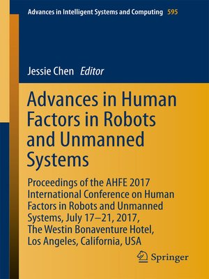 cover image of Advances in Human Factors in Robots and Unmanned Systems