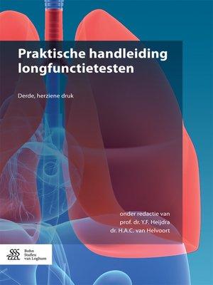 cover image of Praktische handleiding longfunctietesten