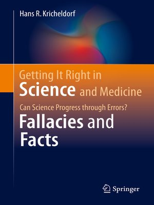 cover image of Getting It Right in Science and Medicine