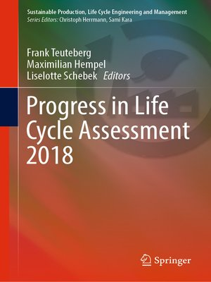 cover image of Progress in Life Cycle Assessment 2018