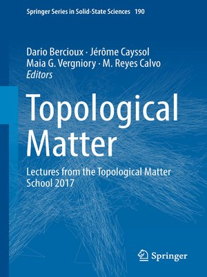cover image of Topological Matter