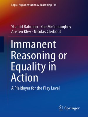 cover image of Immanent Reasoning or Equality in Action