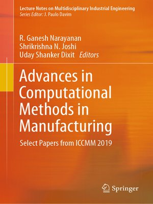 cover image of Advances in Computational Methods in Manufacturing