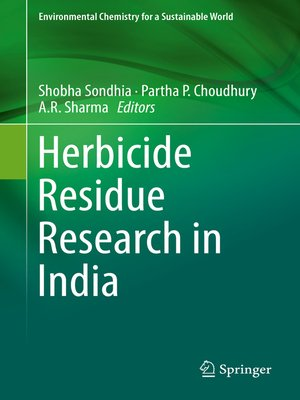 cover image of Herbicide Residue Research in India