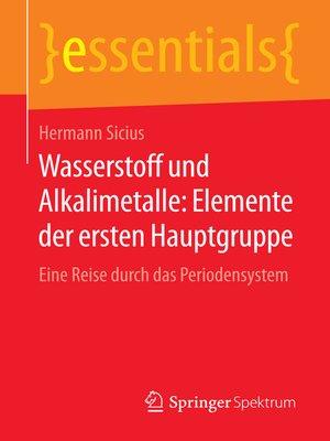 cover image of Wasserstoff und Alkalimetalle