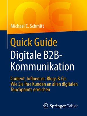 cover image of Quick Guide Digitale B2B-Kommunikation