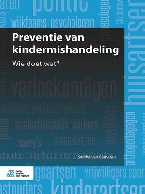 cover image of Preventie van kindermishandeling
