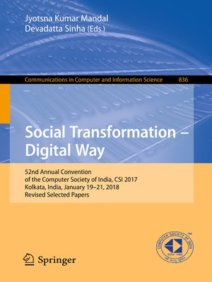 cover image of Social Transformation – Digital Way
