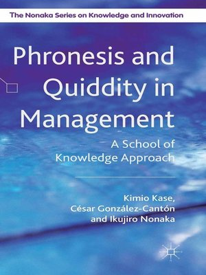 cover image of Phronesis and Quiddity in Management