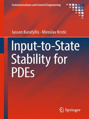 cover image of Input-to-State Stability for PDEs