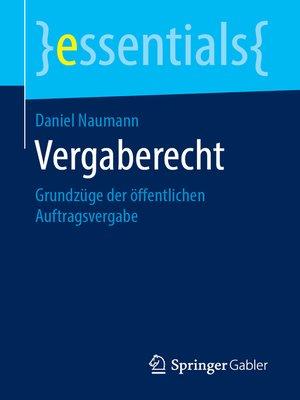 cover image of Vergaberecht
