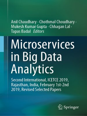 cover image of Microservices in Big Data Analytics