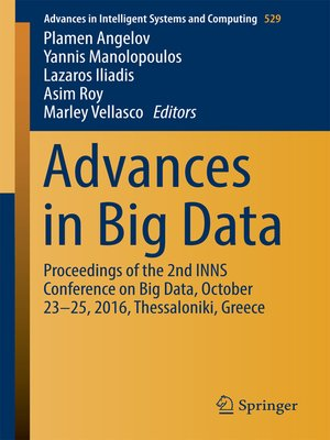 cover image of Advances in Big Data