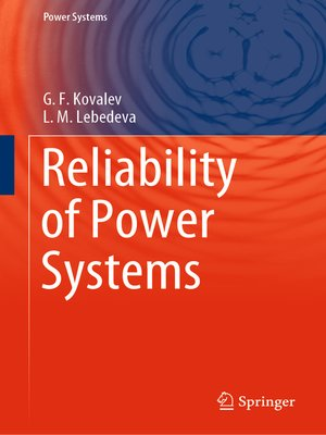cover image of Reliability of Power Systems
