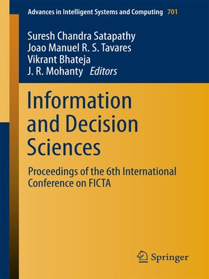 cover image of Information and Decision Sciences