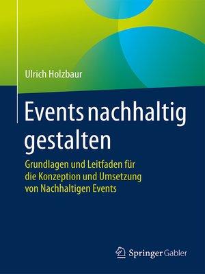 cover image of Events nachhaltig gestalten
