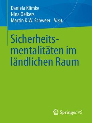 cover image of Sicherheitsmentalitäten im ländlichen Raum