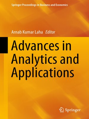 cover image of Advances in Analytics and Applications