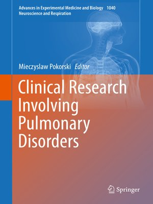 cover image of Clinical Research Involving Pulmonary Disorders