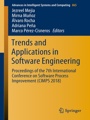 cover image of Trends and Applications in Software Engineering