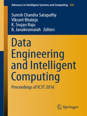 cover image of Data Engineering and Intelligent Computing