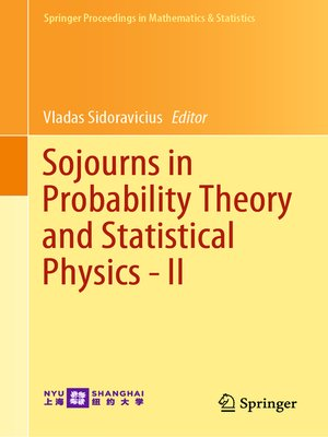 cover image of Sojourns in Probability Theory and Statistical Physics--II