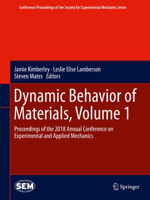 cover image of Dynamic Behavior of Materials, Volume 1