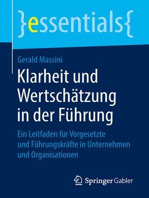 cover image of Klarheit und Wertschätzung in der Führung