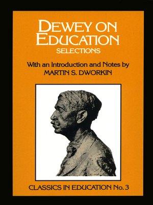 cover image of Dewey on Education