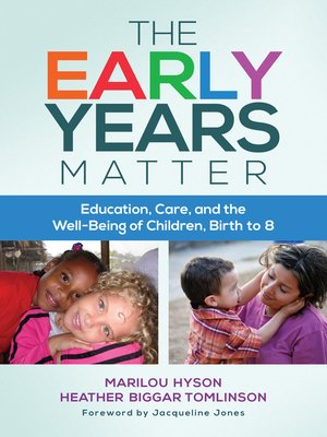 cover image of The Early Years Matter