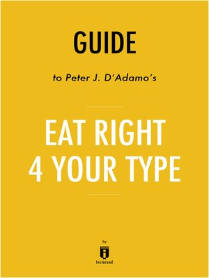 cover image of Guide to Peter J. D'Adamo's Eat Right 4 Your Type by Instaread