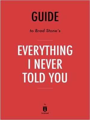 cover image of Guide to Celeste Ng's Everything I Never Told You by Instaread