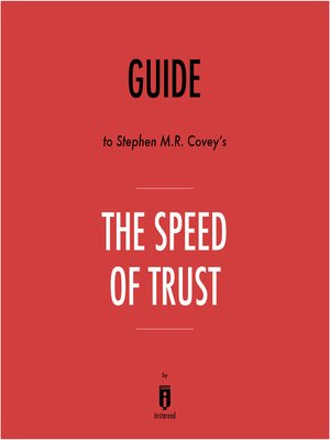 cover image of Guide to Stephen M.R. Covey's The Speed of Trust by Instaread